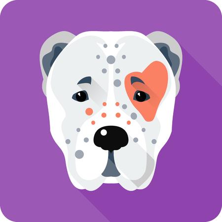 Vector head Central Asian Shepherd Dog icon flat design