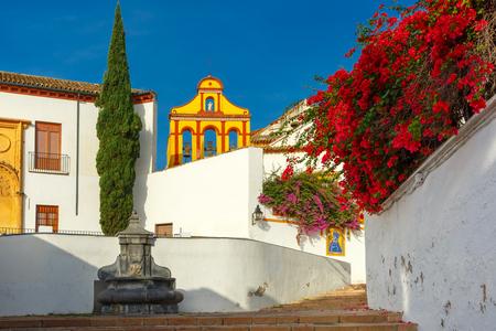 The street of Cordoba in th sunny day, Cordoba, Andalusia, Spain 版權商用圖片