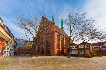 st german: Roman Catholic provost church of St. John in the eastern part of the Hanseatic City of Bremen, in Schnoor, Germany