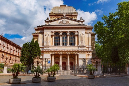 Great Synagogue of Rome on sunny day, Italy. Reklamní fotografie