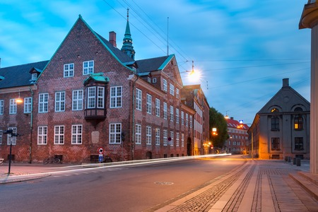 The Bishops House during morning blue hour, Copenhagen, capital of Denmark