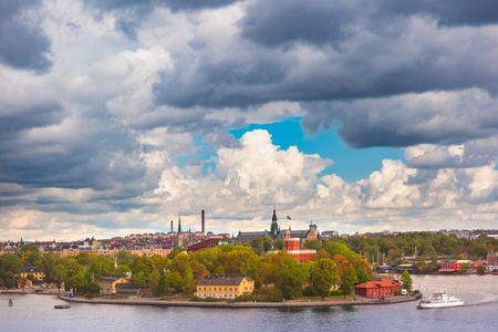Scenic panoramic view of Stockholm, capital of Sweden Stock Photo