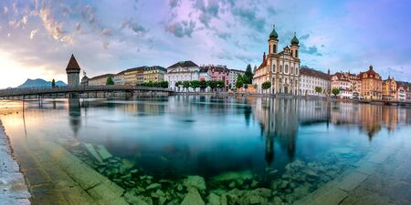 Lucerne at sunrise, Switzerland