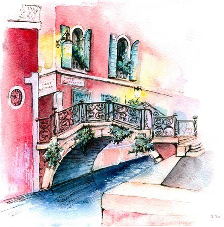 Campo San Vidal Venice, Italia 스톡 콘텐츠