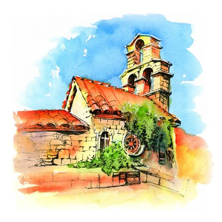 St Maria Church, Budva, Montenegro Фото со стока