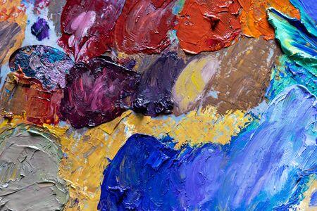 different color oil paint. colorful acrylic paint. modern art concept. painter palette . 版權商用圖片