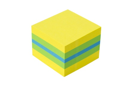 green-yellow-blue cube isolated on a white background Stock Photo - 13616266