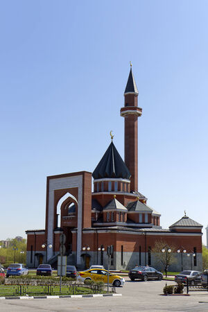 Memorial mosque on Poklonnaya Gora - April, 27, 2014. Constructed in 1997 in honor of Muslim people of Russia, lost during World War II Editorial