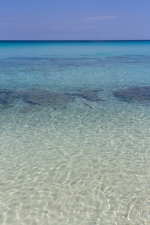Seashore, sandy bottom, transparent water, Sunny day