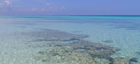 ocean coast in the morning at june,2014 in Varadero, Cuba. Stock Photo