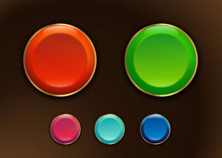 colorful buttons for the game site