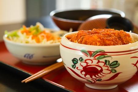 Japanese Katsudon dish at the restaurant.