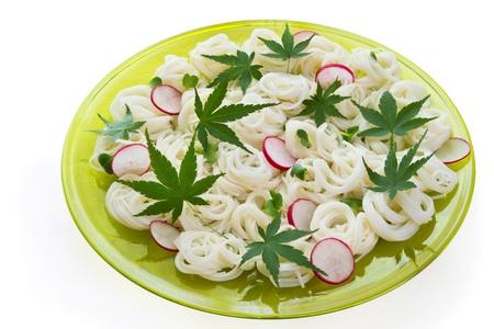 Japanese somen noodles.