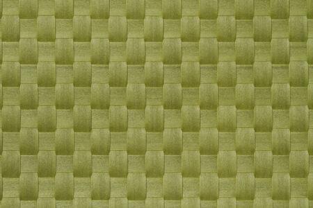 Mat texture   Green basket weave pattern  Stock Photo