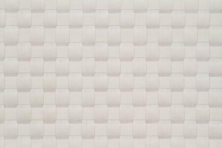 Mat texture. White basket weave pattern. Stock Photo