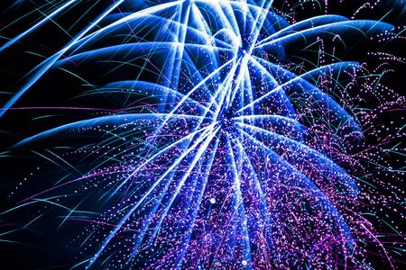 new year s day: Fireworks. Stock Photo
