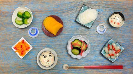 Japanese pickled vegetables (in japanese