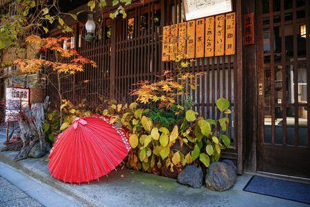 NARAI-JUKU, JAPAN - NOVEMBER 07, 2018: Narai-juku. This is a historic city between Kyoto and Edo (Tokyo).
