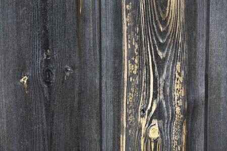 Expressive wooden texture with knots and color gradient. Banco de Imagens