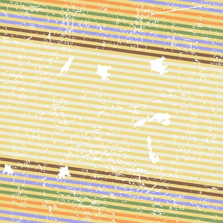 Retro striped grunge background (vector) Stock Vector - 4320560