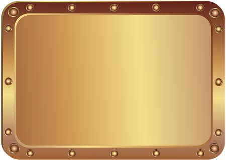 Metal platine avec les coins arrondis