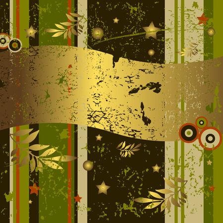 Retro grunge background (vector) Stock Vector - 4497232