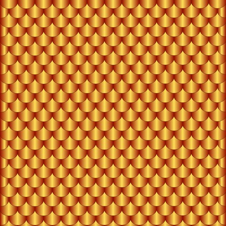 Homogeneous abstract pattern from bronze scales Illustration