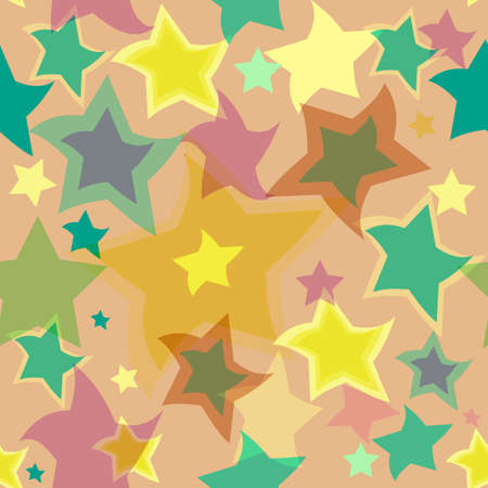 Abstract seamless background with translucent stars (vector) Stock Vector - 5157346