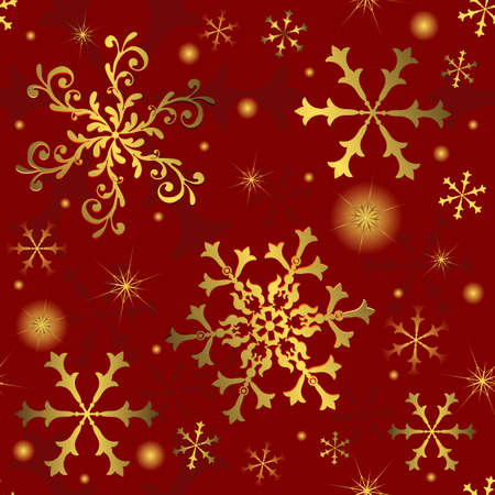 Abstract christmas red seamless  background Stock Vector - 5467694