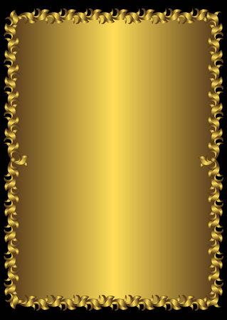 Floral vintage golden frame (vector)