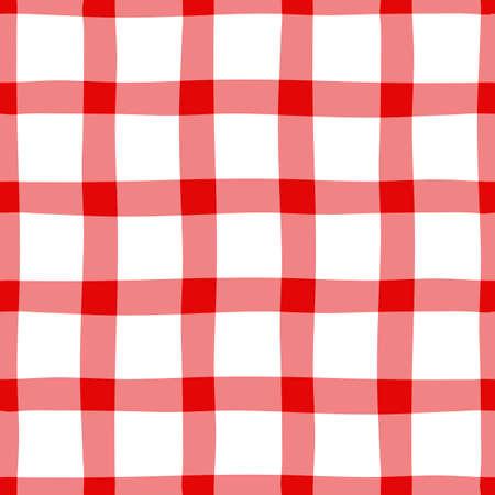 セクションに赤白伝統的なシームレス パターン