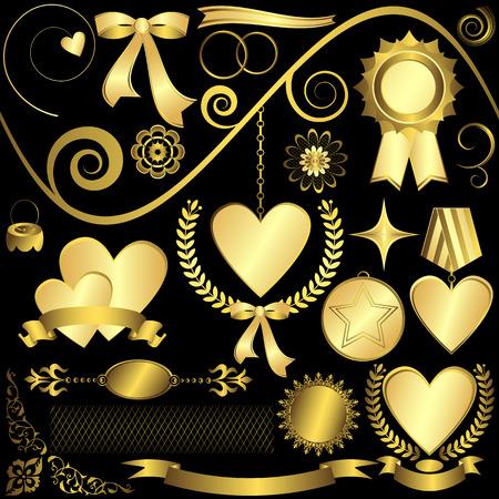 Gouden ontwerp elementen instellen