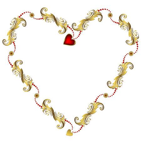 Gouden Valentijns appeltje frame