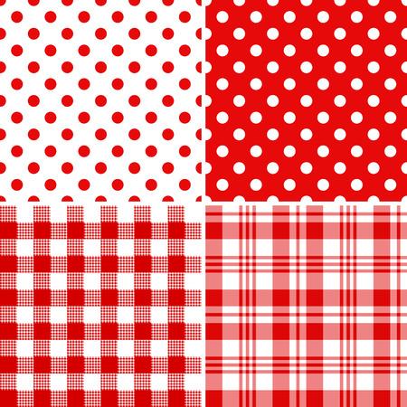 Impostare classici modelli senza saldatura rosso-bianco