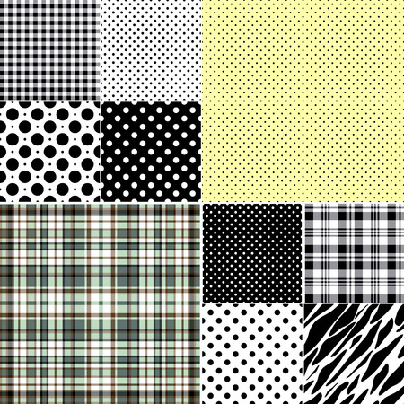 Big set classical seamless patterns Stock Vector - 6331792