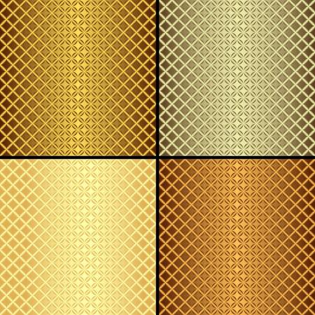 Set metallic seamless patterns