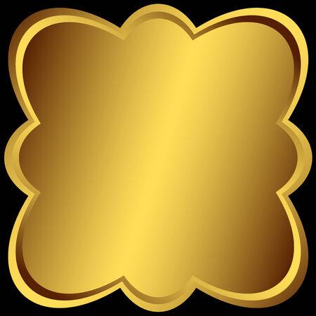 Cadre métallique de symétrique doré