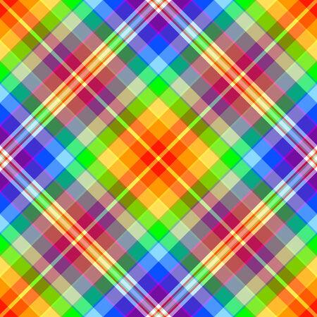 Abstract Rainbow Diagonale nahtlose Tartan pattern