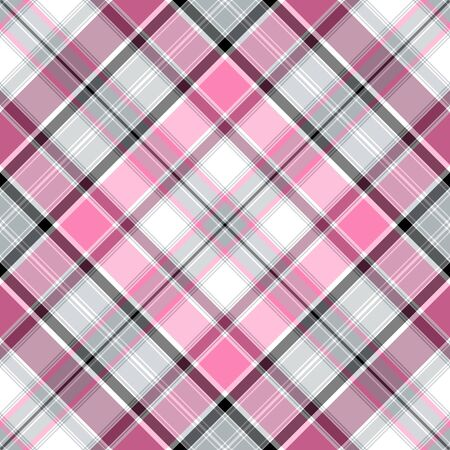 Nahtlose Pink-grau-weiß Kreuz sanfte Muster (Vector EPS-10)