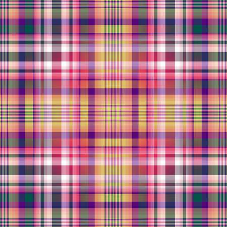 Motivo a scacchi viola-verde-giallo senza soluzione di continuità (vector EPS 10)