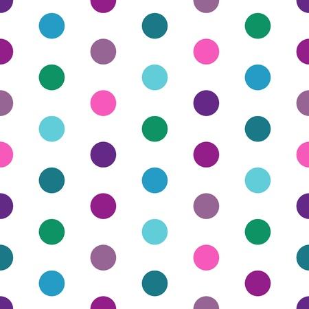 Abstract pattern senza soluzione di continuità con i piselli colorati (vector) Vettoriali