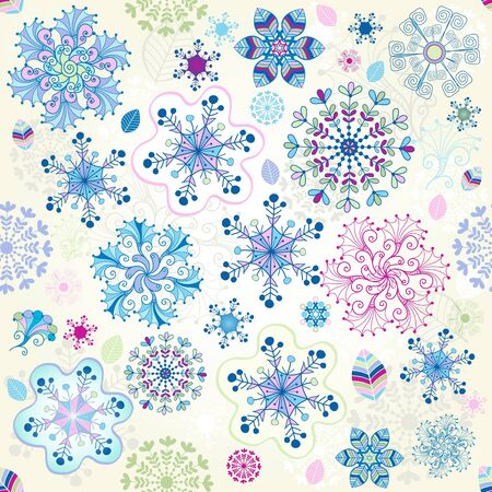 Christmas seamless pattern with colorful snowflakes Stock Vector - 16332259