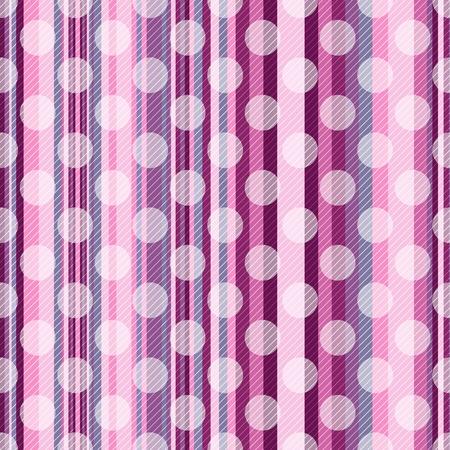Modello rosa a strisce senza cuciture con strisce diagonali e pois bianchi traslucidi