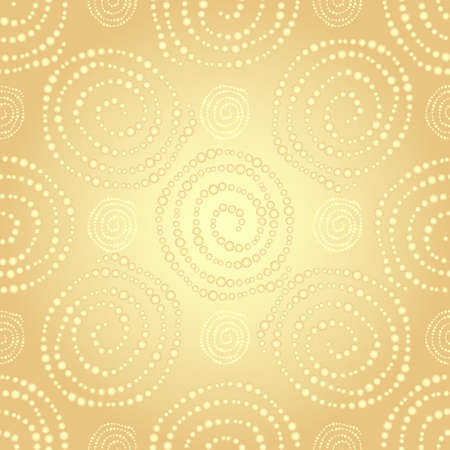 seamless pattern d'or avec des points de gradient d'or spirales