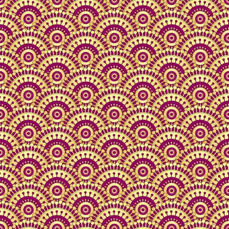 Vintage gold und lila nahtlose Muster, Vektor