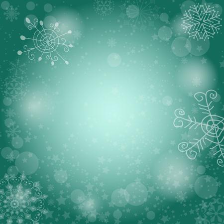 Delicate pastel green spotty Christmas pattern (eps 10) Illustration