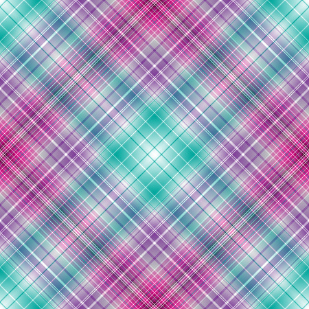 Abstract diagonal striped seamless pattern with white, violet, green and purple strips