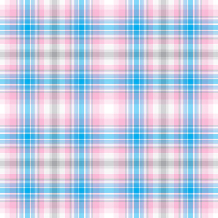 Seamless abstract colorful checkered pink-gray-blue-white pattern