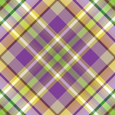 Abstract diagonal striped seamless pattern with white, green, gray and violet strips Иллюстрация