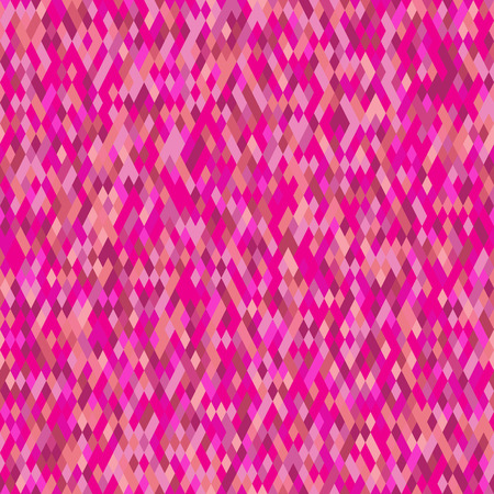Motley seamless pattern of small rhombuses in pink colors